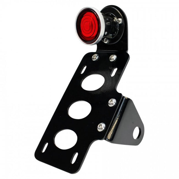 TC Bros.- 2 Inch Round Bobber Side Mount Tail Light/License Plate Bracket