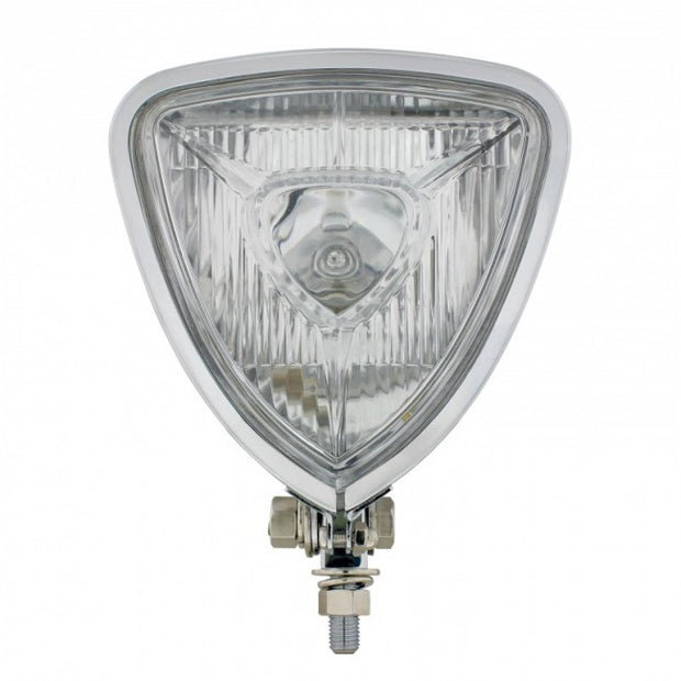 Moto Iron -Triangle Chopper Headlight - Aris Style -Chrome