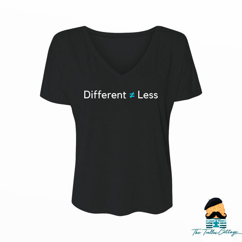 Different Not Less V-neck T-Shirt