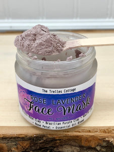 Rose Lavender Face Mask