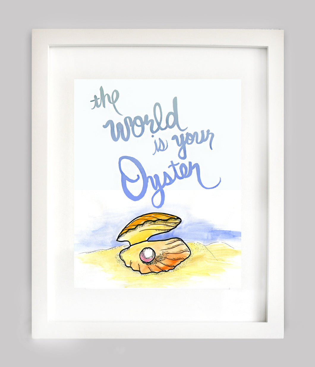 The World Is Your Oyster Print - Blue
