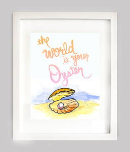 The World Is Your Oyster Print - Pink