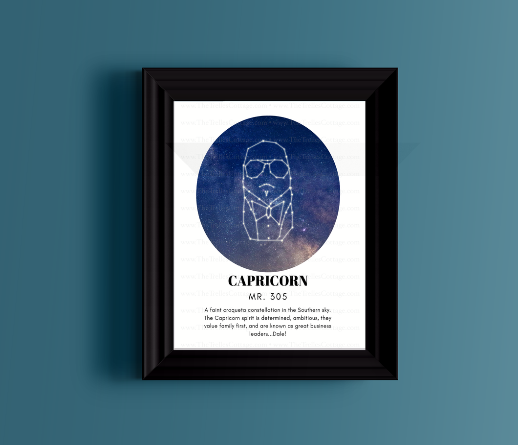 Capricorn Zodiac Print - Mr 305