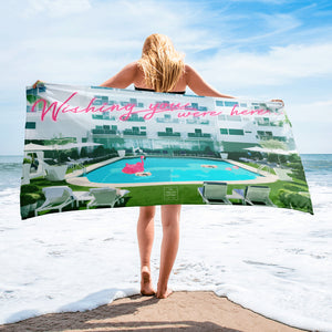 Wishing You Were Here Pool Towel