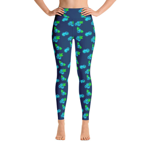 Blueberry Yoga Leggings