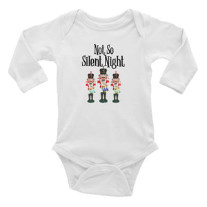 Not So Silent Night Long Sleeve Bodysuit