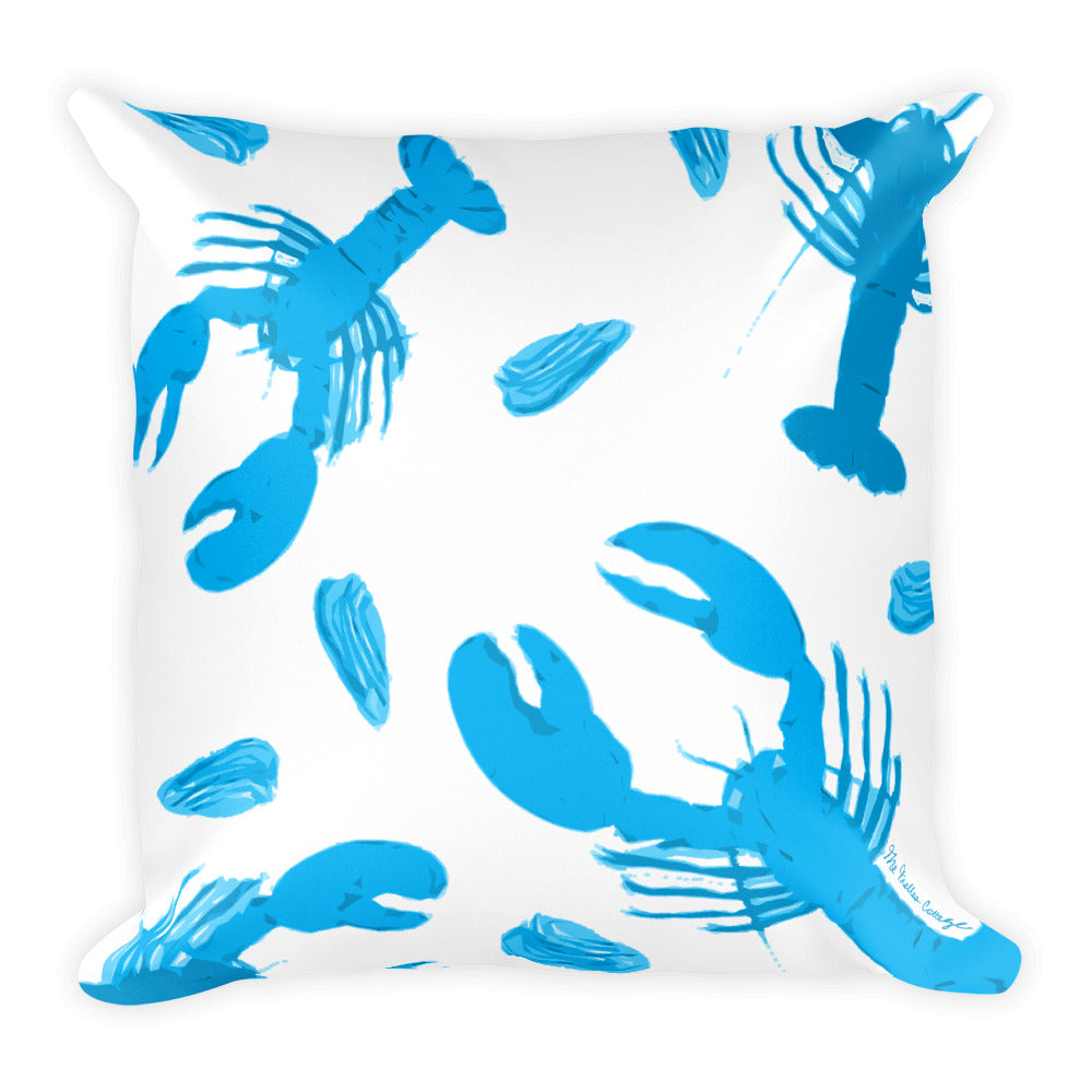 Blue Lobster Pillow