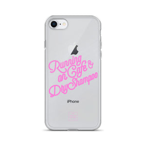 Running on Cafe & Dry Shampoo iPhone Case