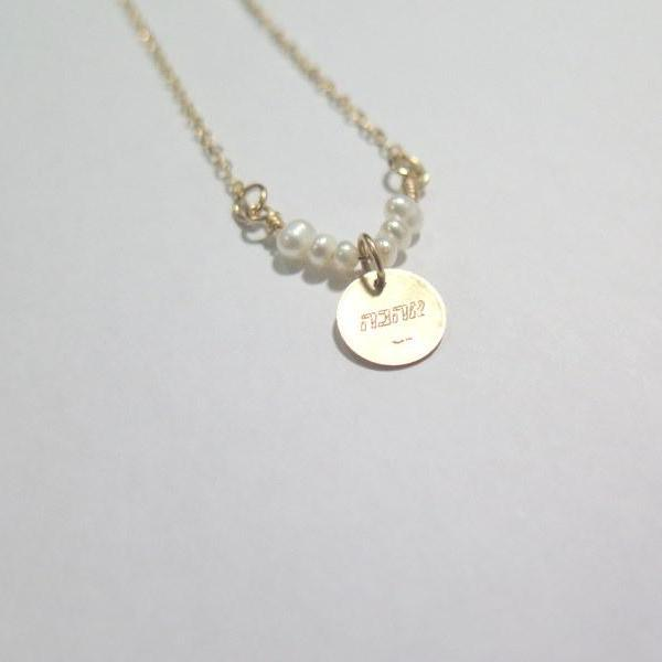 Dainty Initial Disc, Circle Gemstone Necklace, Meaningful Pendant Gift - Viyoli Jewelry Designs