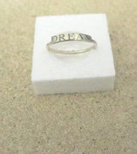 Custom Name Ring, 925 Stacking, Engraved Bar, Inspirational Jewelry - Viyoli Jewelry Designs
