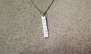 Custom Name Jewelry, Vertical Pendant, Personalized, Engrave Necklace - Viyoli Jewelry Designs