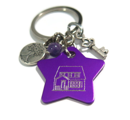 Personalized Keychain Gift, House Warming Present, Custom Keyrings for Men