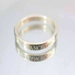 Personalized Men Ring, Man Engraved Band, Sterling Silver Jewelry Gift - Viyoli Jewelry Designs