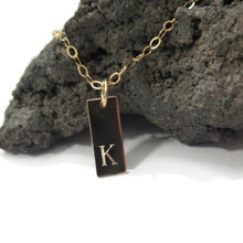 Custom Initial Tag Necklace, Engraved Tag For Him, Monogram Jewelry