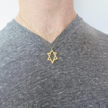 Star David Pendant, Magen David Necklace, Men Jewelry, Gift For Him - Viyoli Jewelry Designs