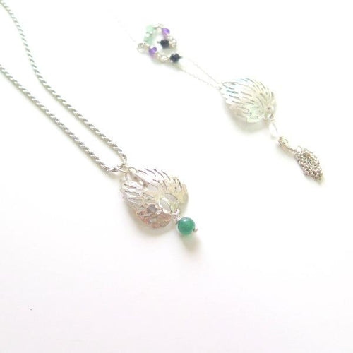 Dainty Angel Wings Sterling Silver Necklace, Memory Personalized Gift - Viyoli Jewelry Designs