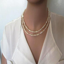Set of Pearls Necklaces for Mom, Layered Jewelry, Gift for Bride - Viyoli Jewelry Designs