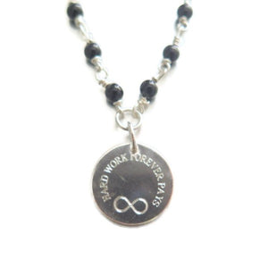 Onyx and Silver, Customized Gemstone Necklace, Meaningful Jewelry