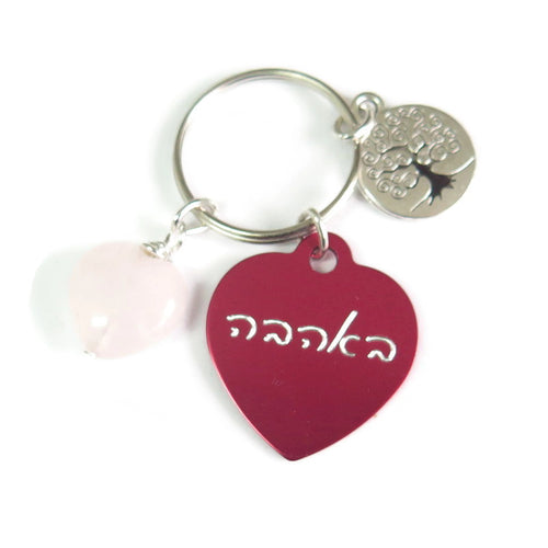 Engraved Friend Gift, Inspirational Word, Meaningful Jewelry, Keychain - Viyoli Jewelry Designs