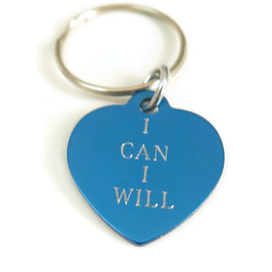 Engraved Friend Gift, Inspirational Word, Meaningful Jewelry, Keychain
