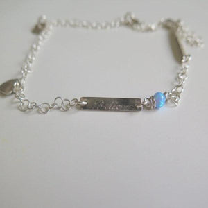 Silver Engraved Anklet, Turquoise Bracelet, Summer Jewelry for You - Viyoli Jewelry Designs