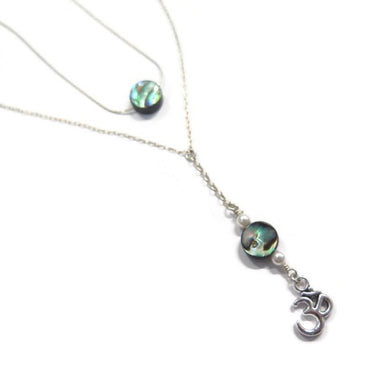 Abalone Necklace in Silver, Layering Set, Perfect Gift in Jewelry