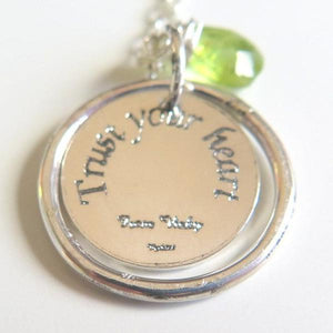 Custom Personalized Disc Necklace, Bridesmaid Gift, Karma Jewelry - Viyoli Jewelry Designs