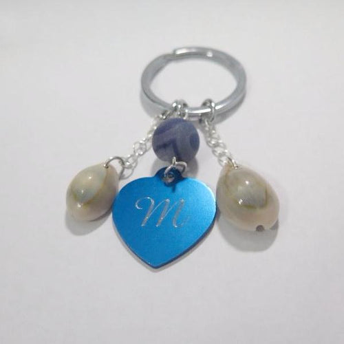 Personalized Heart Keychain, Meaningful Gifts, Engraved Key Chain - Viyoli Jewelry Designs