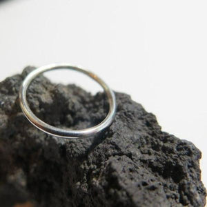 Minimal Stacking Ring, Sterling Silver Thin Band, Jewelry Perfect Gift - Viyoli Jewelry Designs