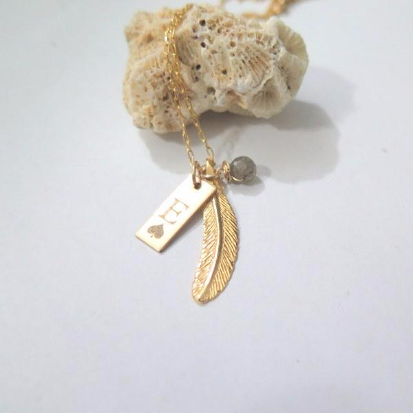 Personalized Gold Necklace Gift, 2 Pendant, Engraved Charm Jewelry - Viyoli Jewelry Designs