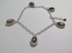 Delicate Seashell in Silver, Summer Beach Anklet, Gift Idea for Women - Viyoli Jewelry Designs