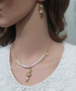 Wedding Gift Jewelry, Fresh Water Pearl Necklace - Viyoli Jewelry Designs