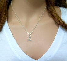 Eternity Necklace, V Necklace, Simple Minimalist, Silver Pearl Necklace - Viyoli Jewelry Designs