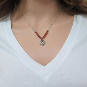 Amber Necklace, Silver Pendant Necklace, Dainty Pendant, Unique Silver - Viyoli Jewelry Designs
