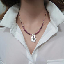 Tourmaline Silver Necklace, Dainty Amorfi Pendant, Special Gift For - Viyoli Jewelry Designs