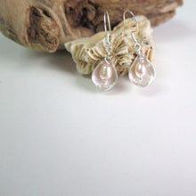 Silver Pearl Earring, Pearl Dangle Earring, White Silver Earring - Viyoli Jewelry Designs