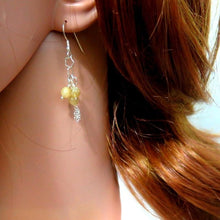 Silver Dangle Earrings, Silver Gift For Her, Citrine Gemstone Earrings - Viyoli Jewelry Designs