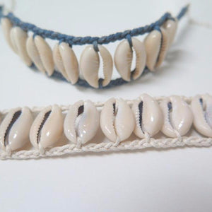 Natural Choker Necklace, Seashell Silver Necklace, Choker For Her - Viyoli Jewelry Designs