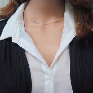 Bird Necklace for Women, Minimalist Necklace, Asymmetrical Layered - Viyoli Jewelry Designs