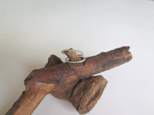 Sterling Stackable Ring, Skinny Beaded Silver, Jewelry for Everyday - Viyoli Jewelry Designs