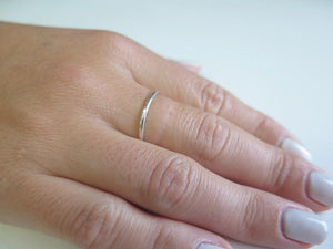Thin Hammered Ring, Minimal Silver Ring, Stackable Ring, StackingRing - Viyoli Jewelry Designs