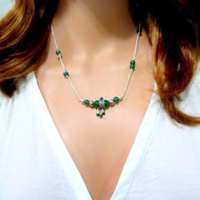 Jade Necklace, Healing Crystals Jewelry, Silver Green Necklace - Viyoli Jewelry Designs