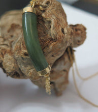 Jade Pendant, Natural Stone Necklace, Healing Necklace, Green Necklace - Viyoli Jewelry Designs