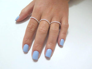 Beaded Silver Ring Set, 3 Stacking Bands for Women, The Perfect Gift - Viyoli Jewelry Designs