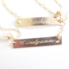 Engraved Bracelet, Name Bracelet, Engraved, Delicate Bar Bracelet - Viyoli Jewelry Designs