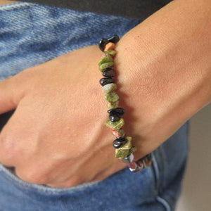 Gemstone Bracelet, Everyday Jewelry, Nugget Beads, Balancing Gemstones - Viyoli Jewelry Designs