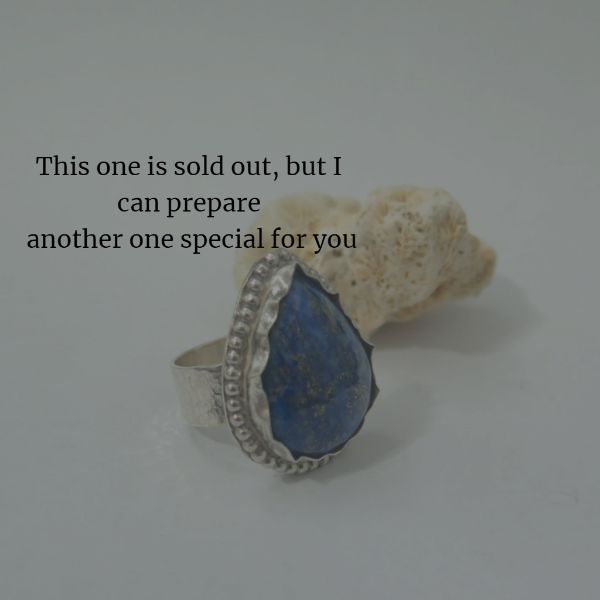 Lapis Lazuli Ring, Sterling Silver Unique Love and Light, Just For You - Viyoli Jewelry Designs