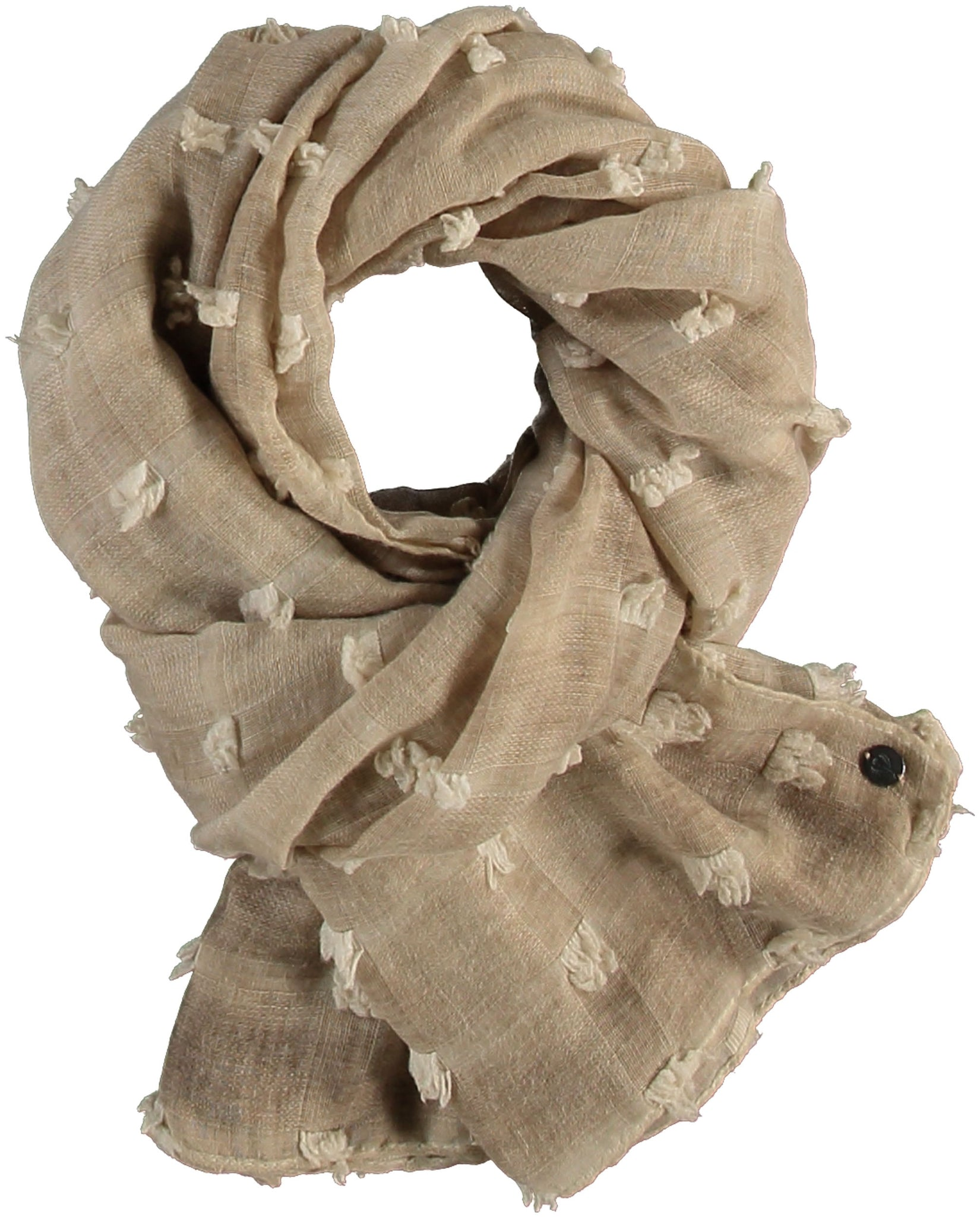 FRAAS Textured Solid Polyester Wrap Scarf
