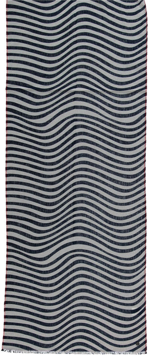 FRAAS Contrast Stitch Wave Cotton Scarf