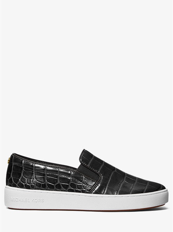 Michael Kors Keaton Croco Embossed Slip On Shoe